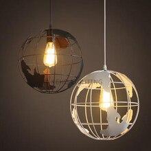 Ретро Чердак старинные подвесные светильники Железа земли мирового Промышленного стиль внутреннего освещения ресторан бар крытый светильник