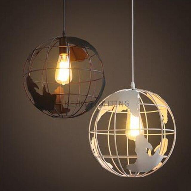 retro loft vintage pendant lights iron the earth world industrial