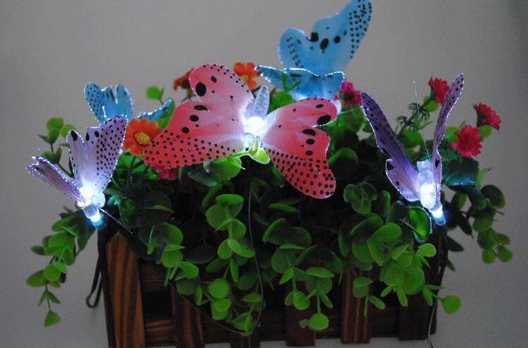 Solar Power LED Butterfly Landscape