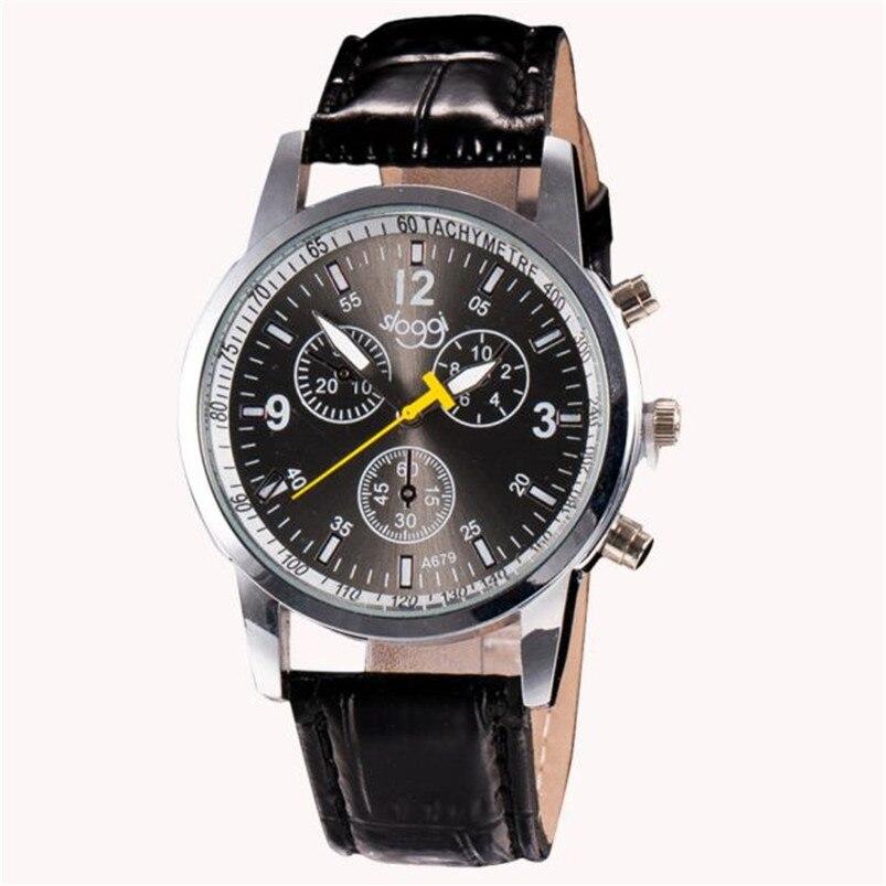 Herrenuhren 2018 Geschenk Herren Uhr Niedrigen Preis Hohe Qualität Männer Luxus Mode Krokodil Faux Leder Herren Analog Uhr Uhr Handgelenk Uhren SpäTester Style-Online-Verkauf Von 2019 50%