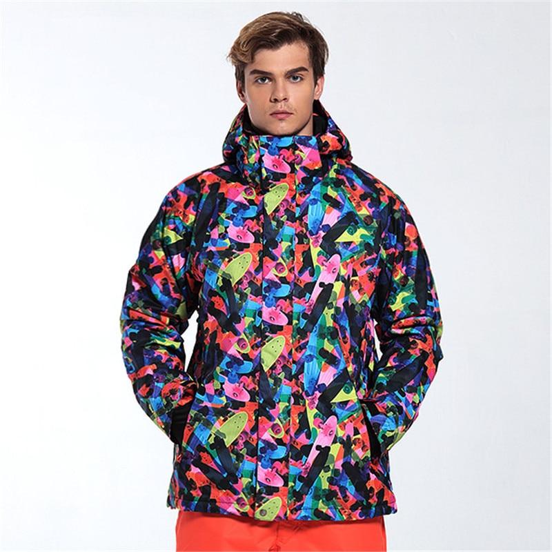 Prix pour Gsou snow 2017 nouveau designer snowboard veste hommes en plein air randonnée et camping manteau d'hiver imperméable coupe-vent vêtements pour hommes