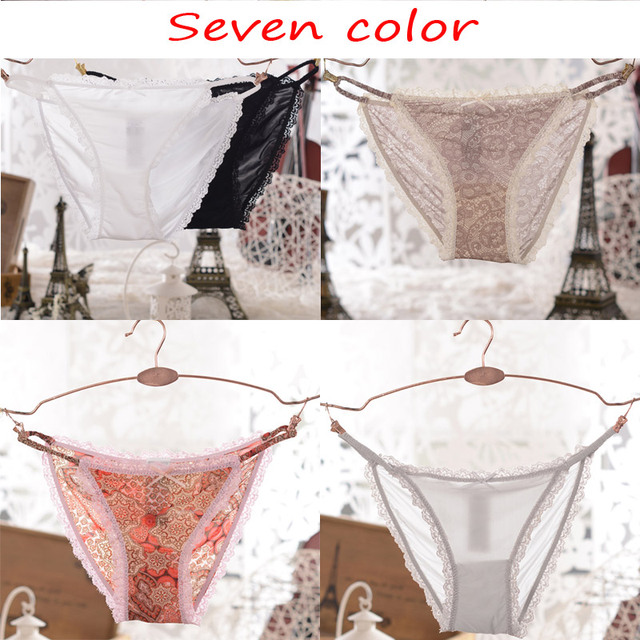 7ab994edc35 Yamamay Brand Plus Size Women s Sexy Panties Transparent Lace Lycra Ice  silk Strappy Briefs Underwear Comfortable Soft fabrics