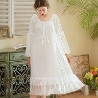 Womens Lingerie Long Nightgown Princess Women Lace Sexy Sleepwear Female Gauze Gown with Long Sleeves Restoring Sleep Wear Dress