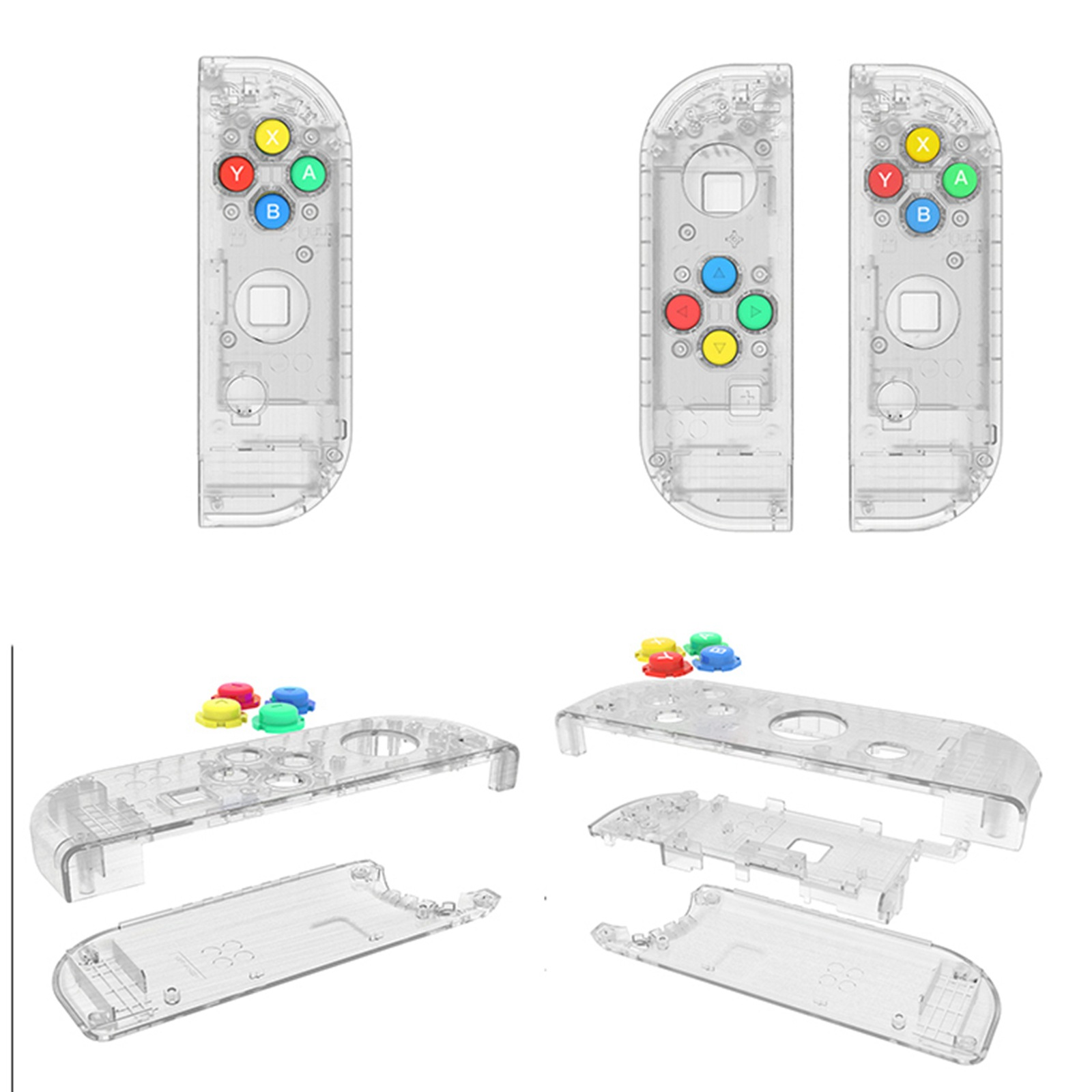 Image 4 - Nintendo Switch Joy Con Controller Handle Replacement Shell for 4 Color Keys Left and Right Pairs ABXY Directions Keys Buttons-in Replacement Parts & Accessories from Consumer Electronics