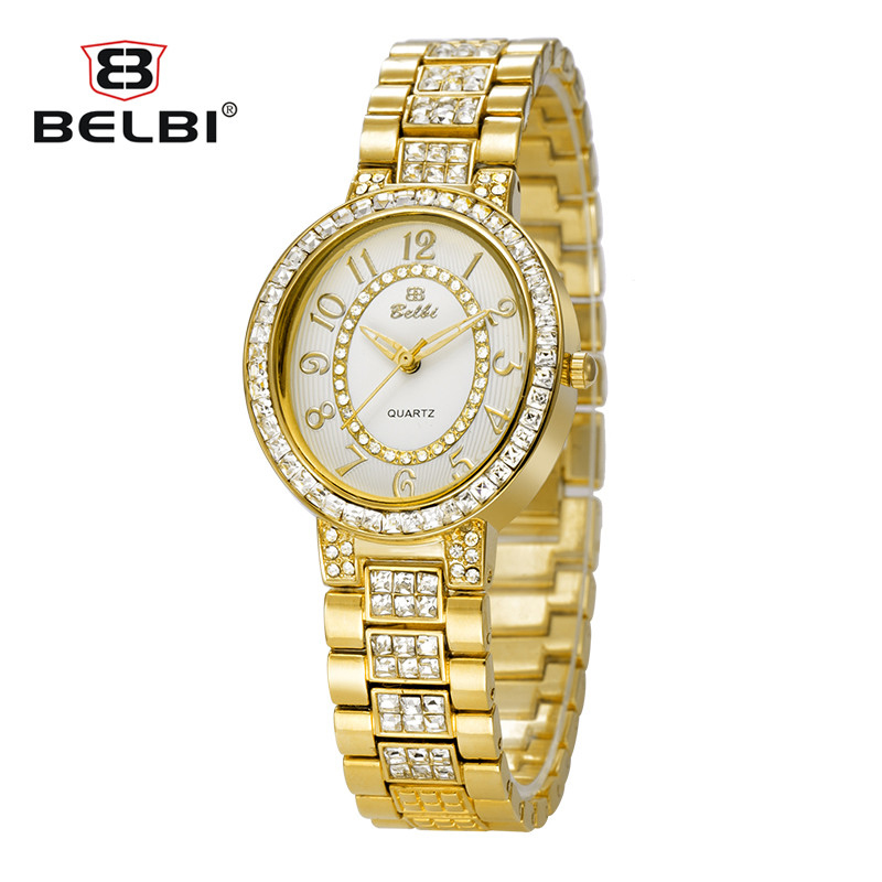 Belbi Relogio Feminino Clock Women's Watches Waterproof Stainless Steel  Watches Fashion Ladies Casual Watch Quartz Wristwatch
