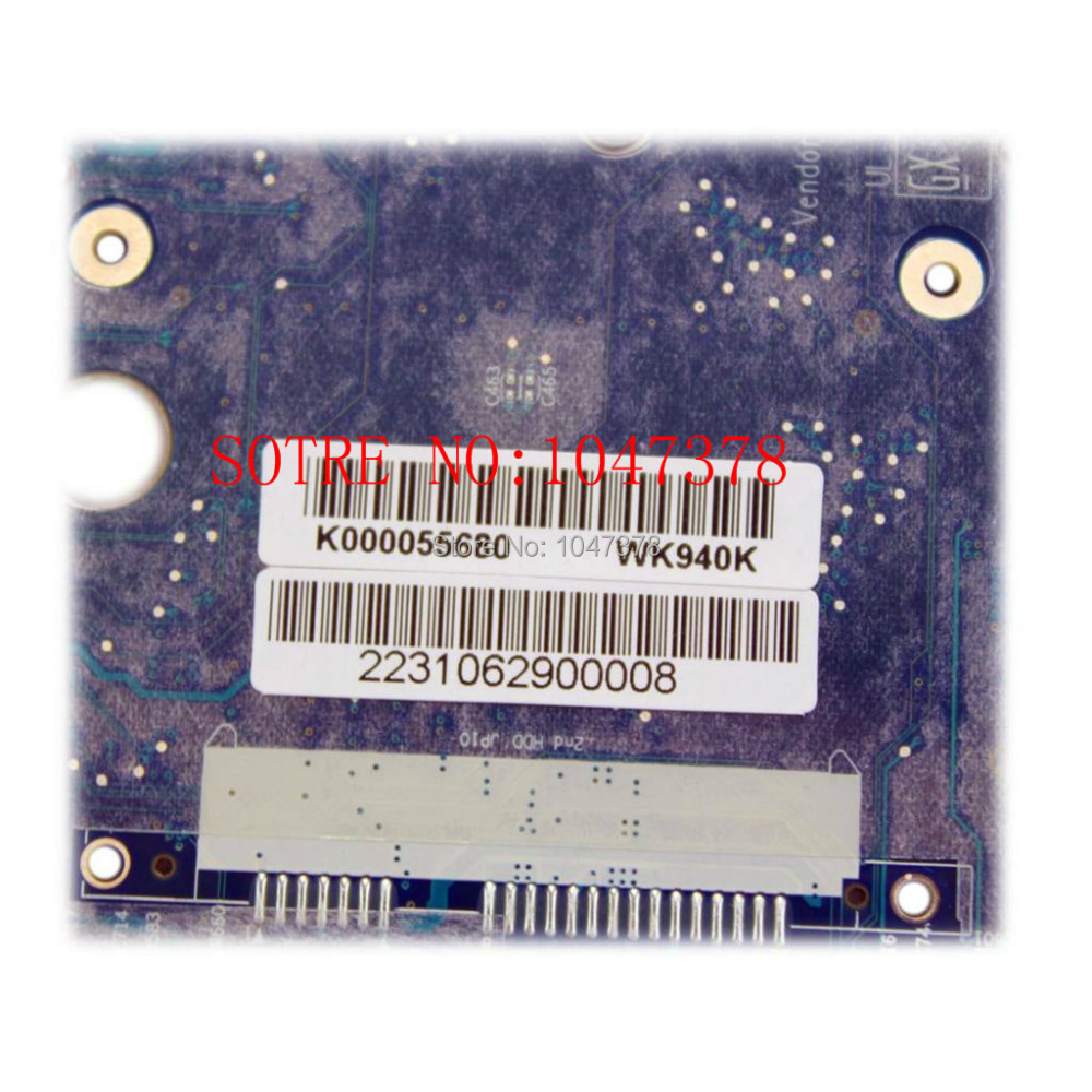 Wholesal BOARD for Toshiba X205 laptop motherboard K000056680 LA-3441P ,100%Tested and guaranteed in good working condition