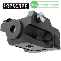 Mini Low Profile Rail Mount rifle Green Dot Laser Sight with Build in Rechargeable Battery Black Made Of Polymer with USB cable