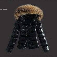 Женщины Зимняя Мода Капюшоном С Длинным Рукавом Твердые Почтовый вверх Тонкий Толстый Стеганый Жакет Пальто Верхняя Одежда