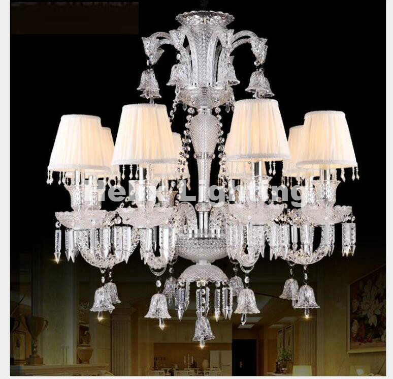 Hot Selling New Arrival Modern Clear Luxurious K9 Clear Crystal Chandelier 6/8/10Arms K9 Class A K9 Crystal Chandeliers AC E14