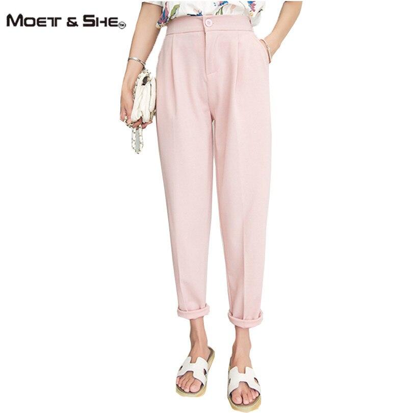 Blue Butterfly Summer Harem Pants High Waist Trousers