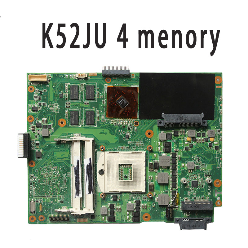 K52JU Laptop Motherboard for ASUS A52J K52J K52JR laptop 4 memory 512m rev2.3A ju m chrysanthemum tea herbal tea stone ju m premium ju m 50g