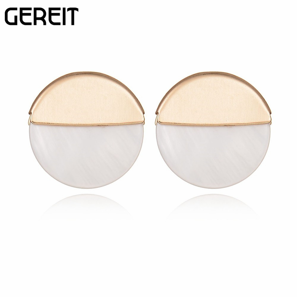 gold rose round women plated stud feather earrings p trendy wholesale for