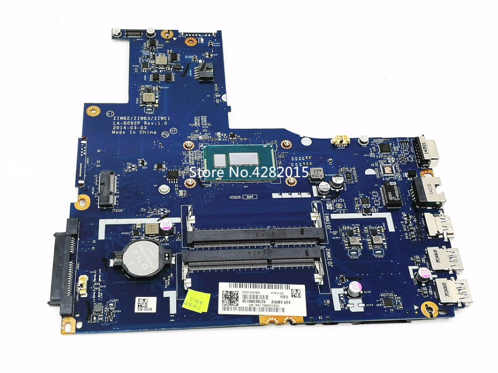 FRU/PN: 5B20G46051 レノボ B50 70 ノートパソコンのマザーボード ZIWB/ZIWB3/ZIWE1 LA B092P REV: 1.0 メインボードの Intel N2957U DDR3L テスト OK  グループ上の パソコン & オフィス からの マザーボード の中 1