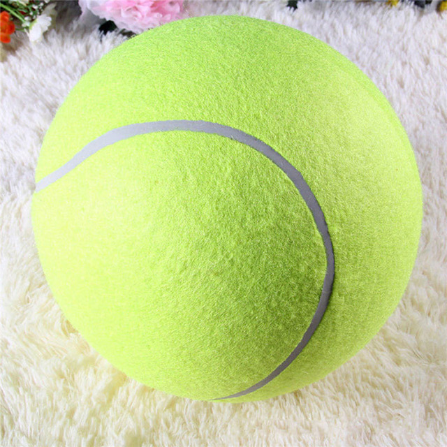 24cm inflatable tennis ball play toys for large dogs 4