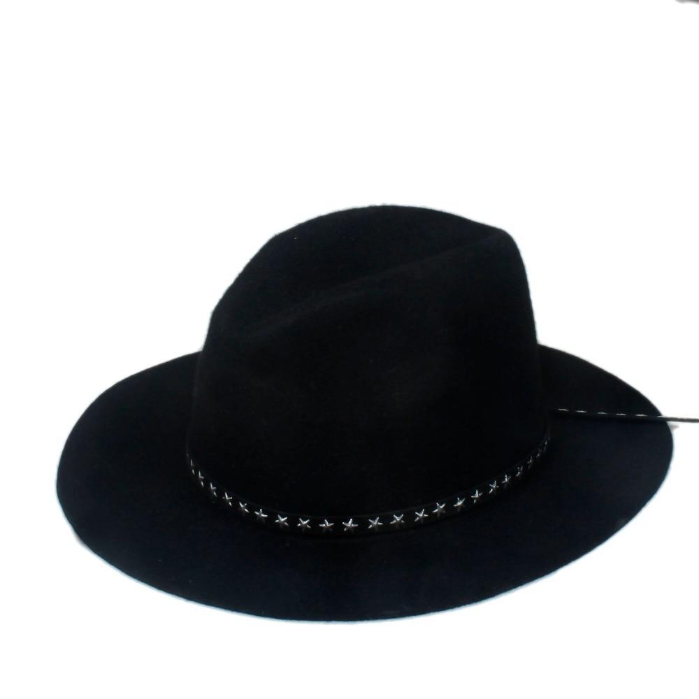 Новая модная женская мужская шерстяная шляпа fedora фетровая Панама женская элегантная мягкая Шляпа Дерби мягкая фетровая шляпа с кожаным брендом