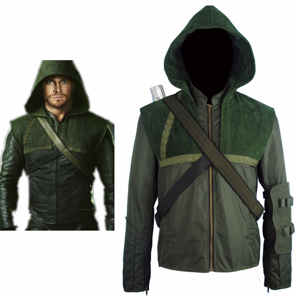 Arrow Oliver Queen Connor Hoodie Jacket Pullover Halloween Comic-con Cosplay Costume Men Women Adults