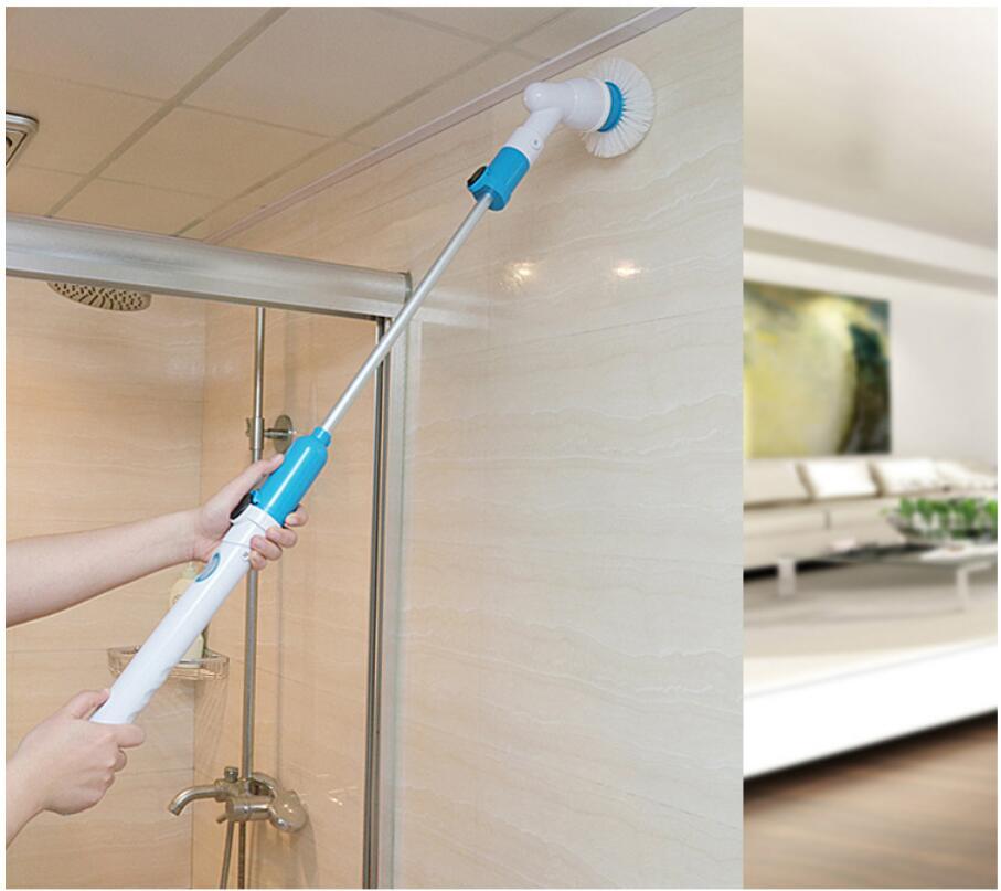 2017 мощность для очистки ванн плитки очиститель пола кисточки Швабра скрабы Чистый Спин Turbo Скраб Щетка для ванны
