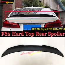 Fits For BMW F82 M4 PSM style high kick FRP Unpainted Trunk lid spoiler wing 2 door hard top Rear 2014-2018