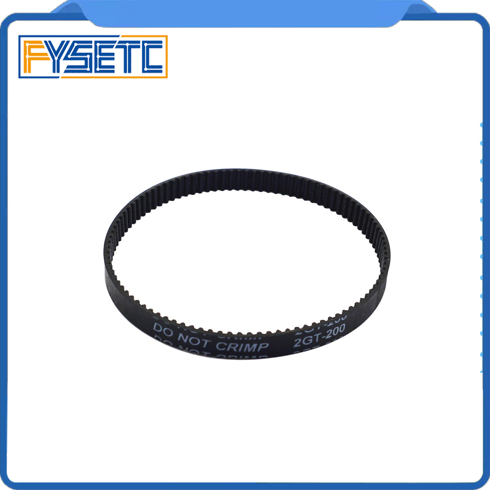 10 unids/lote 3D impresora cinturón de caucho cerrado GT2 Correa 200-2GT-6 dientes 100 longitud 200mm ancho 6mm para UM2 ultimaker Slider