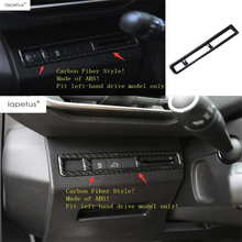 Lapetus Accessories Fit For Peugeot 3008 3008GT 2017 - 2020 ABS Front Head Lights Switches Button Molding Cover Kit Trim lapetus accessories for toyota camry 2018 2019 matte carbon fiber abs front head light switches button molding cover kit trim
