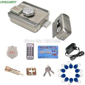 LPSECURITY Intercom RFID система контроля доступа, комплект дверных замков + замок электрических ворот 10 чипов идентификации + адаптер питания (опциона...