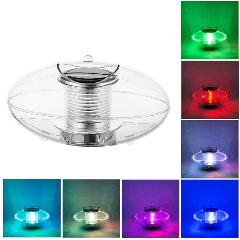CLAITE Solar Powered Colorful Water Floating Lamp LED Outdoor Underwater Light For Yard Pond Garden Pool Decoration Light