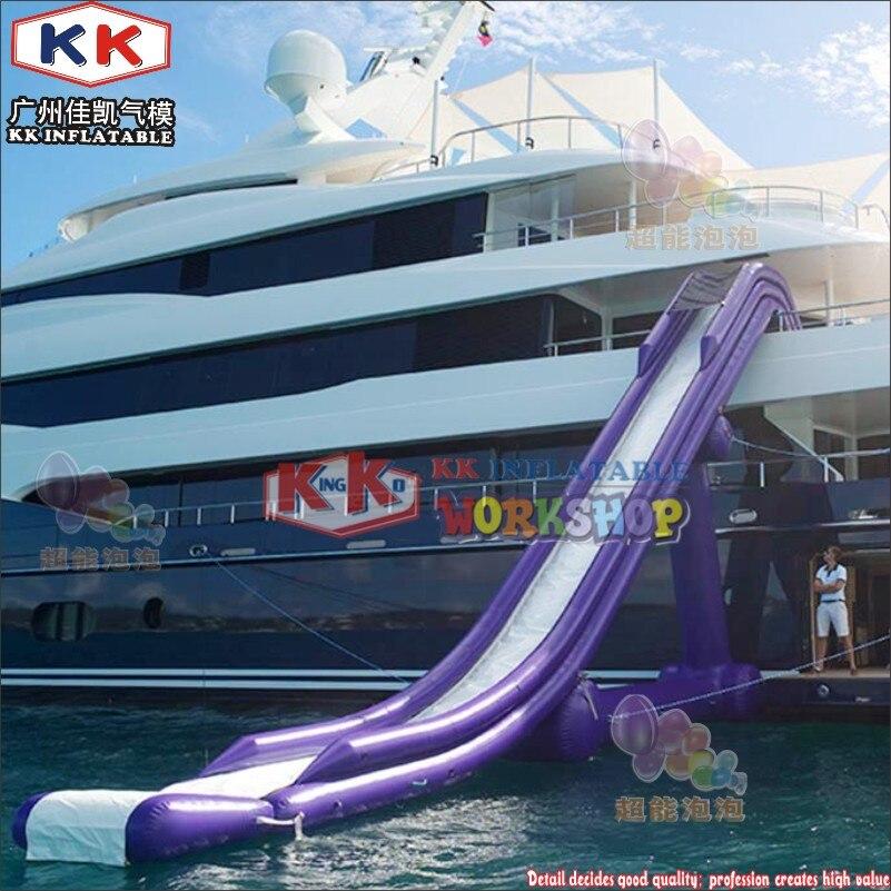 Kk Fabrik Lieferant Lila Luxus Air Versiegelt Yacht Wasser Rutsche Für Vermietung Business Verwenden Kaufen Sie Immer Gut