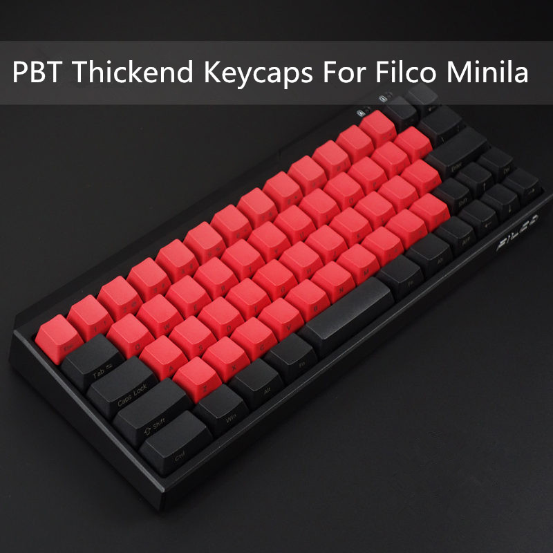 PBT keycaps For Filco Minila Mechanical Keyboard Front/Side Printed 67 Keyset With Keypuller Cherry MX Key Caps