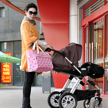 fashion  fair maiden style big diaper bag Messenger tote multifunctional Maternity mother nappy bag waterproof baby stroller bag Nappy Changing