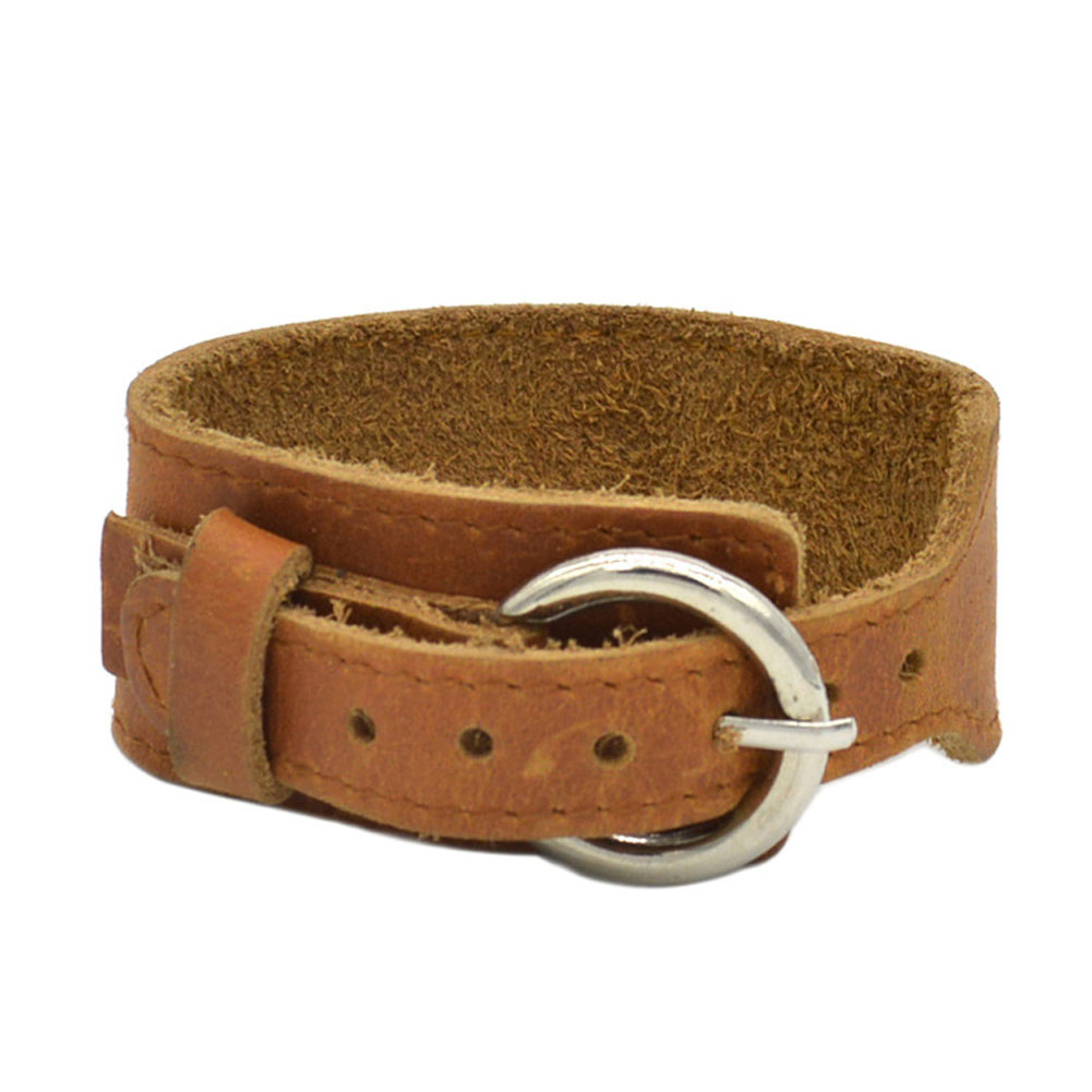 Vintage Europe Style Wide Pu Leather Buckle Bracelet Men Women Unisex  Bracelets Punk Style Handmade Cowboys
