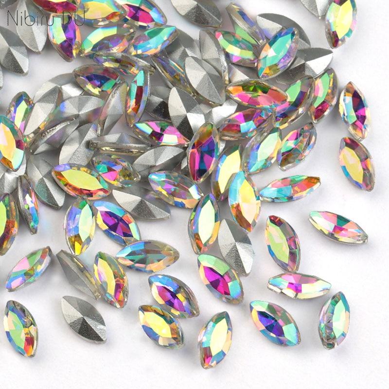 20 шт. нижней точки красочные драгоценные камни Стекло 3x6 мм Мини ногати бриллиантами стразами Стразы для ногтей, с изображением 3D украшения Аксессуары|Стразы и украшения|   | АлиЭкспресс
