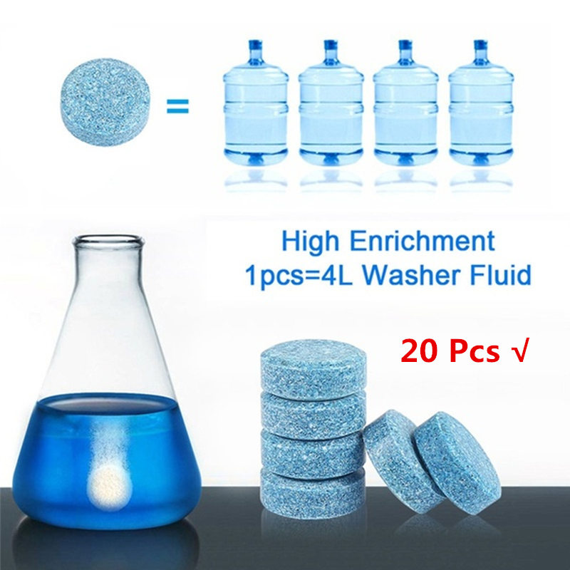 20 Pcs Multifunctional Effervescent Spray Cleaner Concentrate Home Cleaning Toilet Kitchen Cleaner Chlorine Tablets Clean Spot