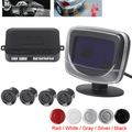 3Sets Weatherproof Dual CPU System LCD Display Car Parking Sensor System With 4 Reverse Radar Distance Control Sensors