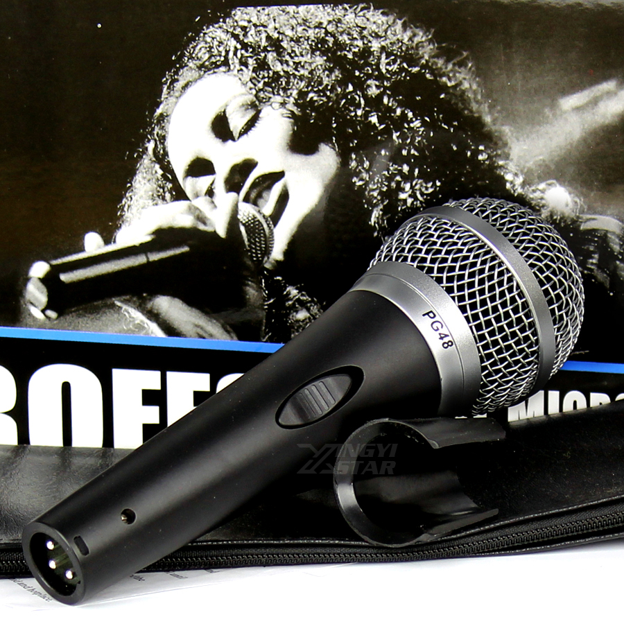 Professional Dynamic Microphones Handheld Switch Vocal Microphone For PGA PG 48 48LC PG48 PGA48 PGA48LC KTV Karaoke Mixer Audio