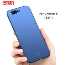 Oneplus 5 Case MSVII Merk Slim Frosted Cover een plus 5 T Gevallen oneplus 5 T Case Hard PC Cover Voor Een plus 5 T oneplus 5 Gevallen(China)
