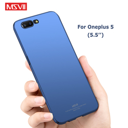 Oneplus 5 Case MSVII Brand Slim Frosted Cover one plus 5 T Cases oneplus 5T Case Hard PC Cover For One plus 5T Oneplus5 Cases