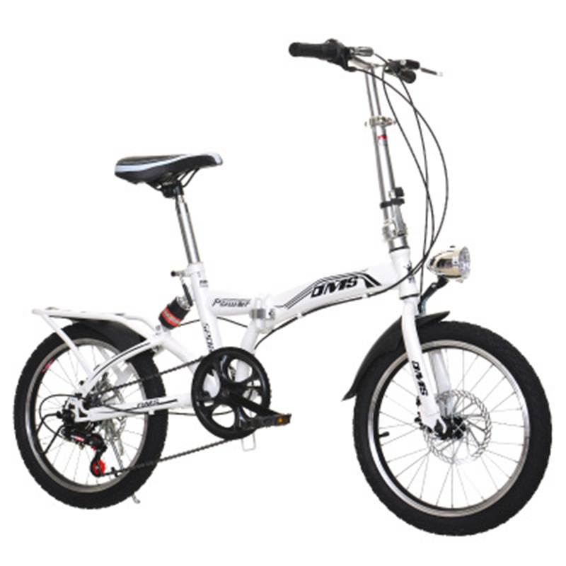 Folding Bikes, 20-Inch Shifts, Three-Knife Disc Brakes, Men And Women With Ultra-Light Students Carry Small Bicycles.