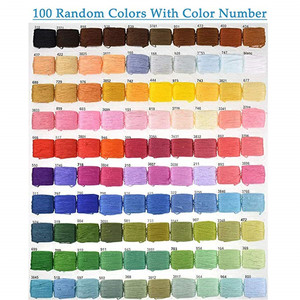 Image 4 - KOKNIT 100Colors Embroidery Floss Kit with Storage Box Finished Winding Floss Bobbins DIY Friendship Bracelets Thread Craft Tool