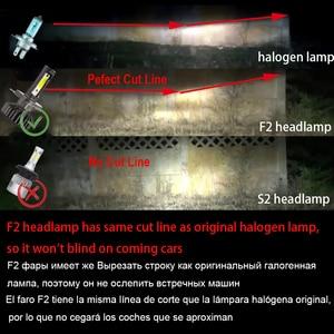 Image 5 - YHKOMS Canbus مصباح أمامي LED للسيارات H4 H7 3000K 4300K 6500K 8000K LED لمبة H11 H8 H1 H3 9005 9006 880 881 H27 السيارات الضباب ضوء مصباح
