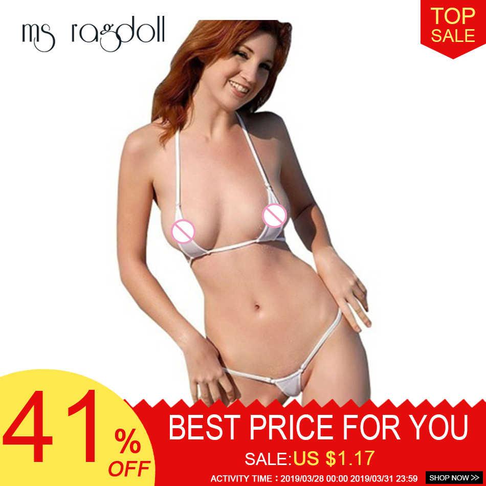 5417ae6244ff Sexy mujer Tanga ropa interior G-String sujetador Set Minie Bikini traje de  baño ropa