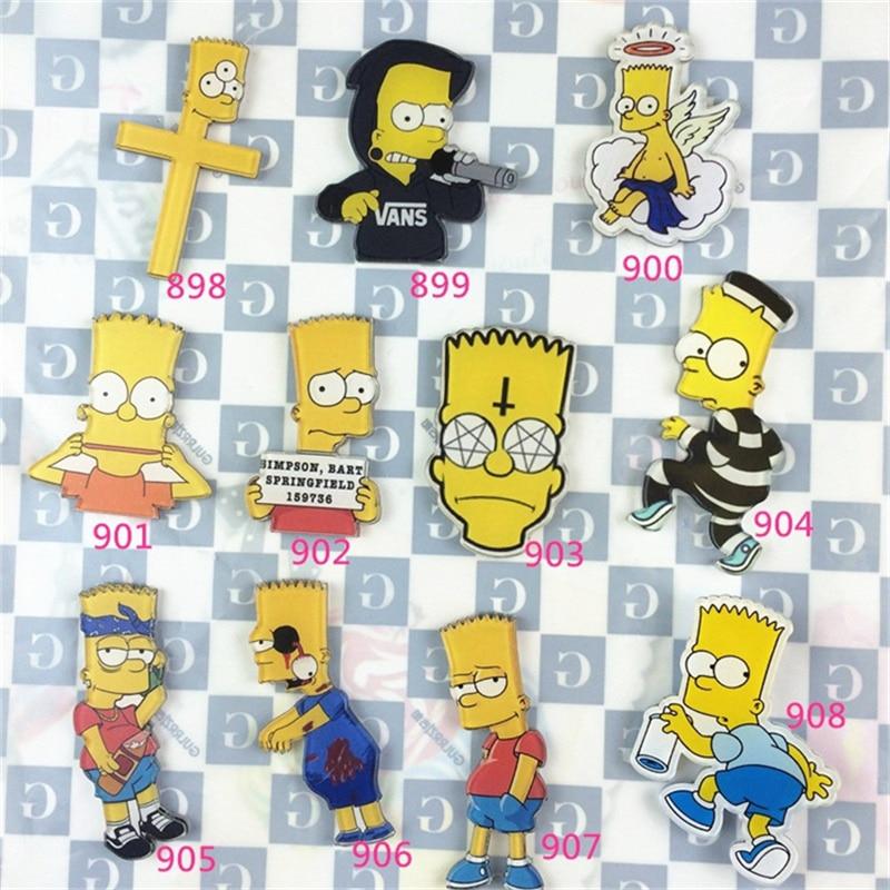 2017 Hot sale Gypsy acrylic brooch pins popular simpson Cartoon Harajuku badge Bag girls Brooch Gift Channel trinketsbag brand