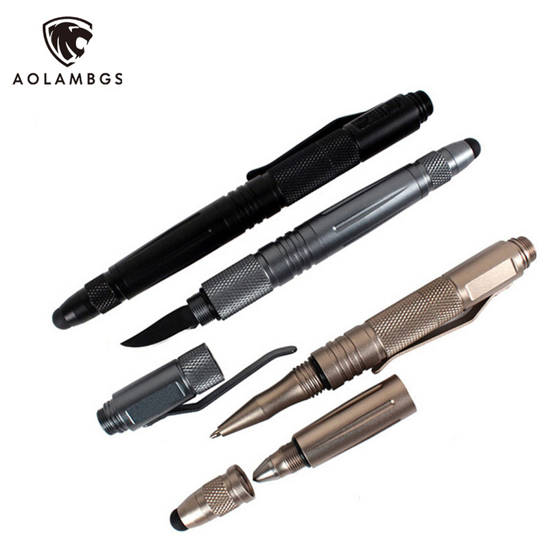 Outdoor survival self defense pen multifunctional font b tactical b font pen with font b knife
