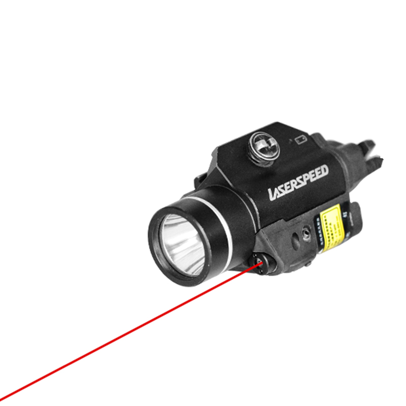 Drop shipping LASERSPEED LS-CL2-R Red Beam Laser Sight And Tactical Flashlight Combo for Pistol with Strobe Light