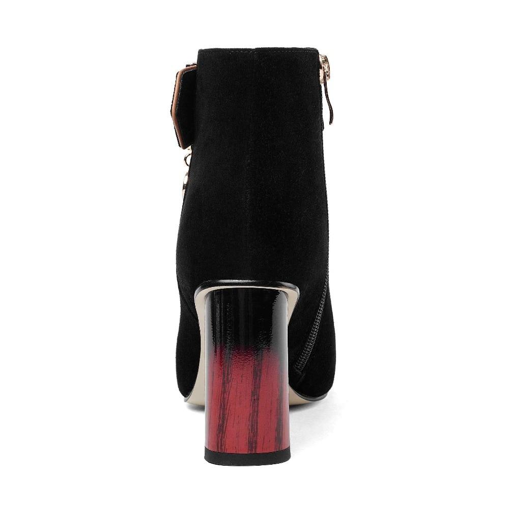 Pendentif Bout Pointu D'hiver Chaussures 2018 Solide Femmes Diamant Bonbon Haute Pot L57 Bottes Élégant Super Talons Suede Kid Cheville Noir Krazing YPWxq1XnZY