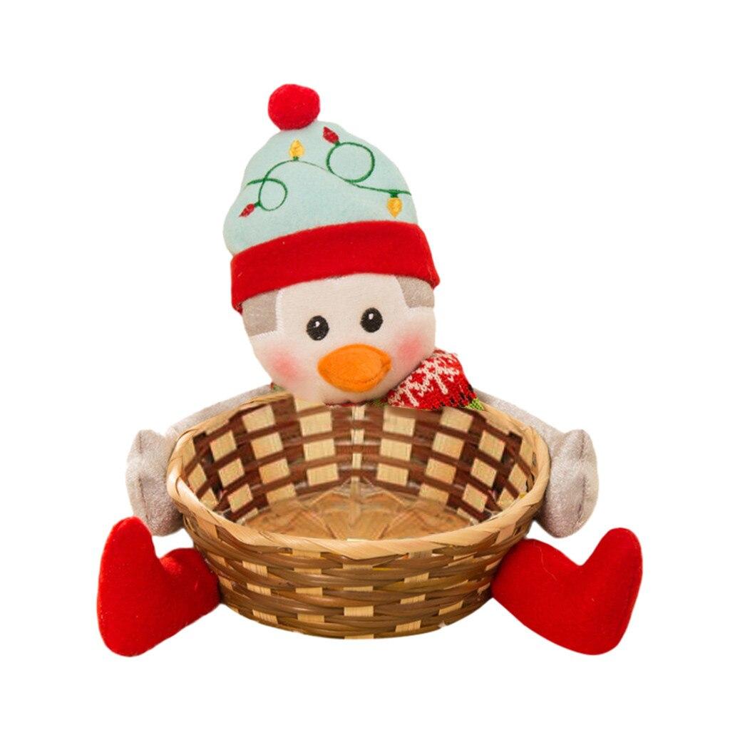 Рождественская корзина для хранения конфет украшение корзина для хранения Санта Клауса Подарок Рождественское украшение Рождественская корзина для хранения конфет - Цвет: C