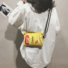 the female Bag new 2019 fashion Messenger ins super fire Korean casual canvas girl spring shoulder cartoon printing