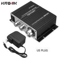 KROAK LP 2024A Hi Fi Car Stereo Digital Audio Amplifier AMP Power Supply 20W Class T