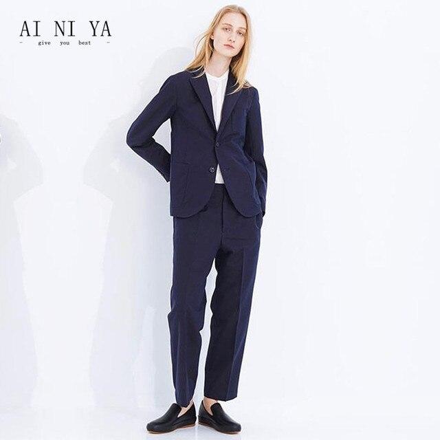 b8f61f29f Nueva formal Trajes para mujeres casual negocio elegante Trajes Pantalones  mujer Oficina uniforme damas pantalones traje