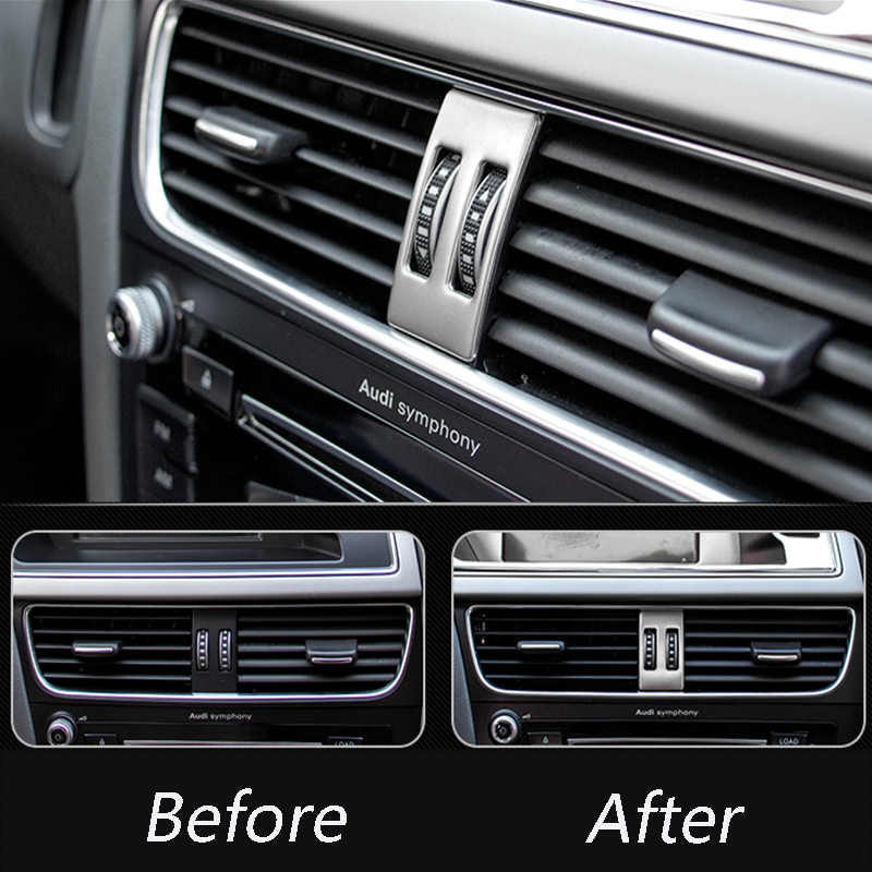 3684cf34cbe ... Car Styling AC Outlet Trim Refit Air Outlet Frame dashboard Stickers Covers  for Audi A4 B8 ...