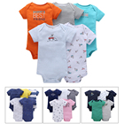 5Pcs/Lot Baby Rompers Short Sleeve 100% Cotton Overalls Newborn Clothes Baby Onesie Baby Girl Clothes Newborns Body Boys Romper